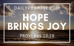 Hope Brings Joy