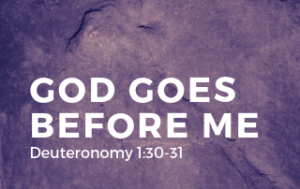 God Goes Before Me - Deuteronomy 1:30-31