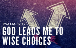 God Leads Me to Wise Choices - Psalm 25:12