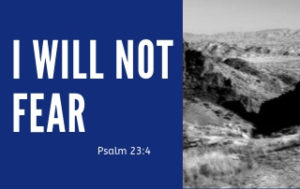 I Will Not Fear - Psalm 23:4