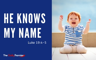 He Knows My Name - Luke 19:4-5