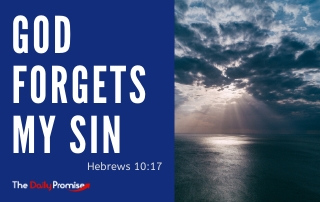 God Forgets My Sin - Hebrews 10:17