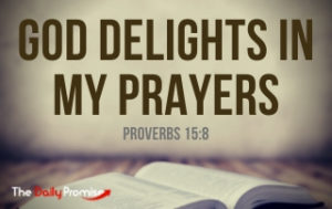 God Delights in My Prayer - Proverbs 15:8