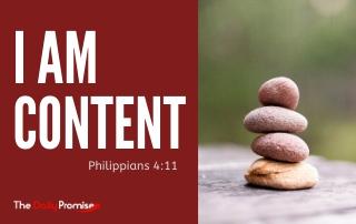 I Am Content - Philippians 4:11