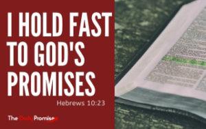 I hold Fast to God's Promises - Hebrews 10:23