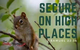 I Am Secure on High Places - 2 Samuel 22:34