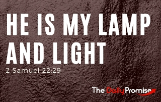 He is My lamp and lights - 2 Samuel 22:29