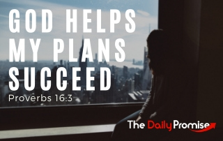 God Helps My Plans Succeed - Proverbs 16:3