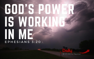 God's Power is Working in Me - Ephesians 3:20