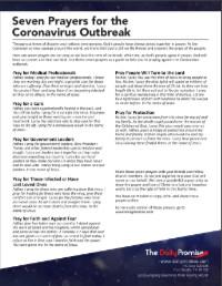 Seven Prayers for the Coronavirus