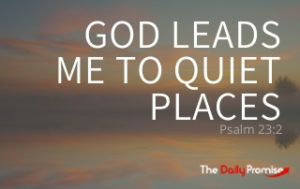 God Leads Me to Quiet Places - Psalm 23:2