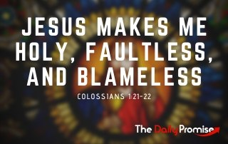 Jesus Makes Me Holy, Faultless, and Blameless - Colossians 1:22-23