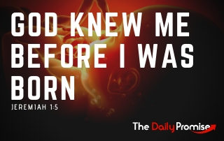 God Knew Me Before I Was Born - Jeremiah 1:5