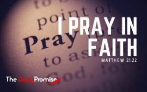 I Pray in Faith - Matthew 21:22