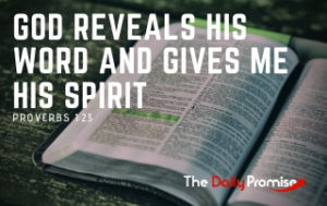 God Reveals His Word and Gives me His Spirit - Proverbs 1:23