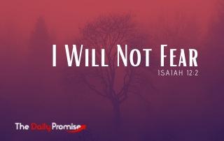 I Will Not Fear - Isaiah 12:2