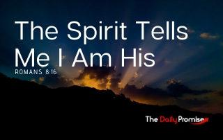 The Spirit Tells Me I Am His - Romans 8:16