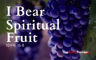 I Bear Spiritual Fruit - John 15:8