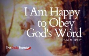 I Am Happy to Obey God's Word - Psalm 119:14