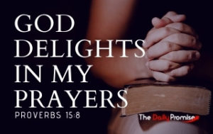 God Delights in My Prayers - Proverbs 15:8