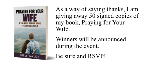 Book with promise to give away 50 signed copies to those who RSVP