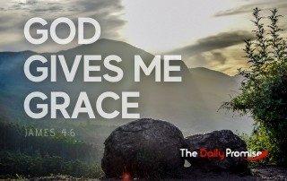 God Give Me Grace - Mountain scene