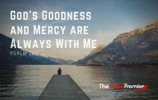 God's Goodness and Mercy Are Always With Me - Psalm 23:6