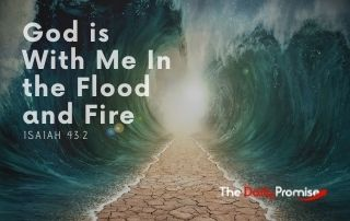 God is with me in the flood and fire - Isaiah 43:2