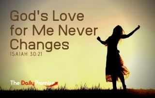 God's Love for Me Never Changes - Isaiah 54:10