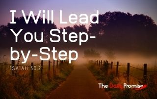 God Will Lead You Step-by-Step - Isaiah 30:21