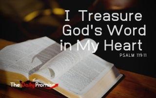 I Treasure God's Word in My Heart - Psalm 119:11