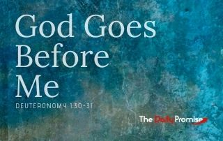 God Goes Before Me - Deuteronomy 1:30-31