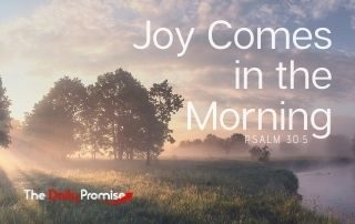 Joy Comes in the Morning - Psalm 30:5