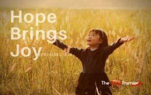 Hope Brings Joy - Proverbs 10:28