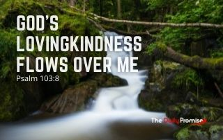 God's Lovingkindness Flows Over Me - Psalm 103:8