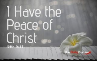 I Have the Peace of Christ - John 16:33