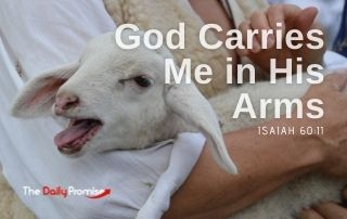 God Carries Me in His Arms - Isaiah 40:10