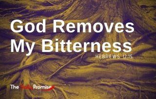 God Removes My Bitterness - Hebrews 12:15