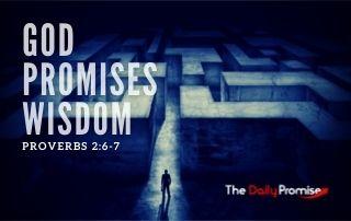 God Promises Wisdom - Proverbs 2:6-7