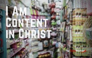 I Am Content in Christ - Philippians 4:11