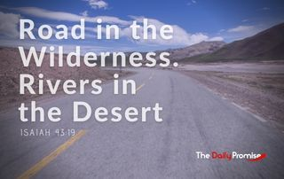 Road in the Wilderness and Rivers in the Desert - Isaiah 43:19